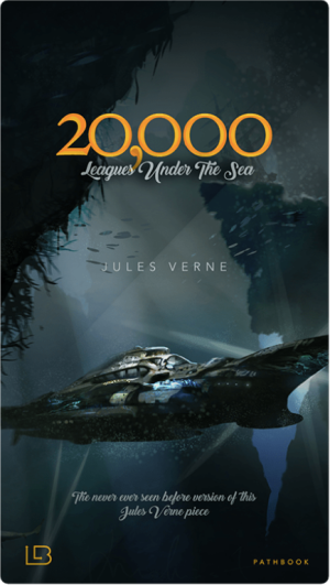 Cover of the interactive book 20,000 Leagues Under the Sea published by Living a Book.