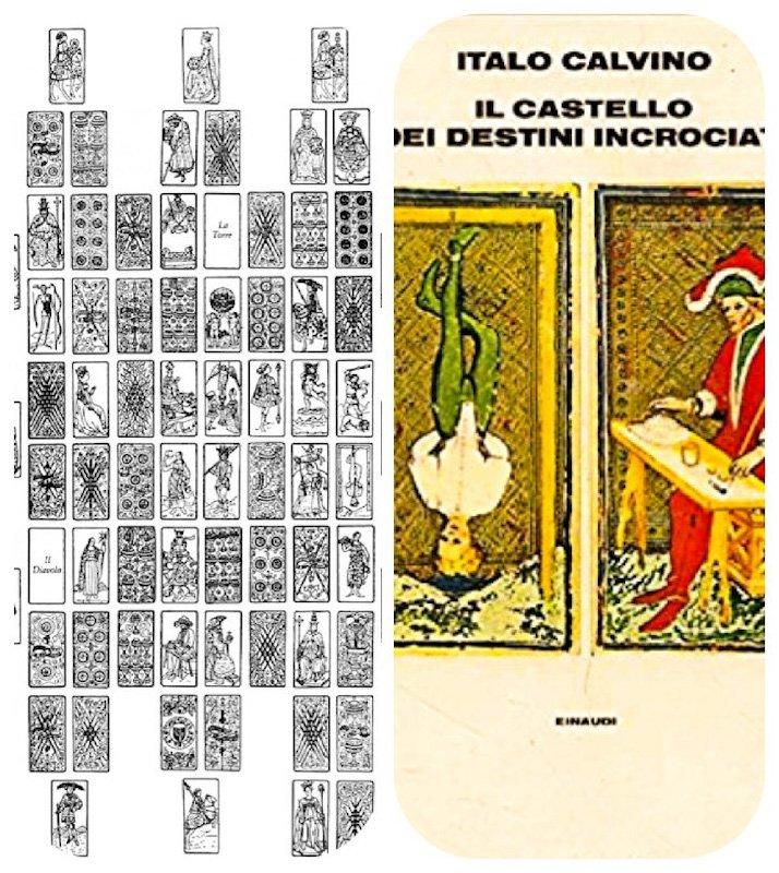 La copertina de Il castello dei destini incrociati di Italo Calvino.